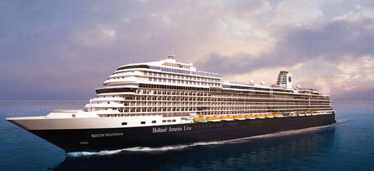 O novo navio de cruzeiros Nieuw Statendam daHolland America Line (Projecto)