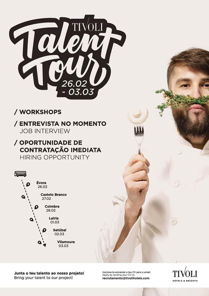 Tivoli Talent Tour em Portugal tem 300 vagas de emprego