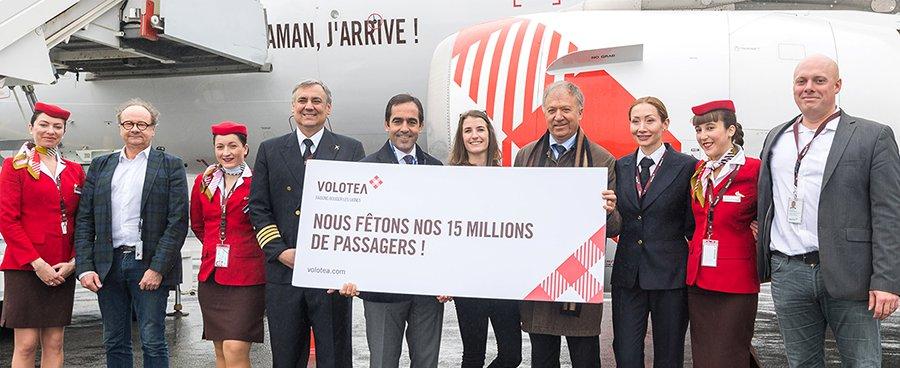 Comemoração do passageiro 15 milhões da Volotea em Nantes